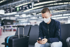 گردشگر در فرودگاه